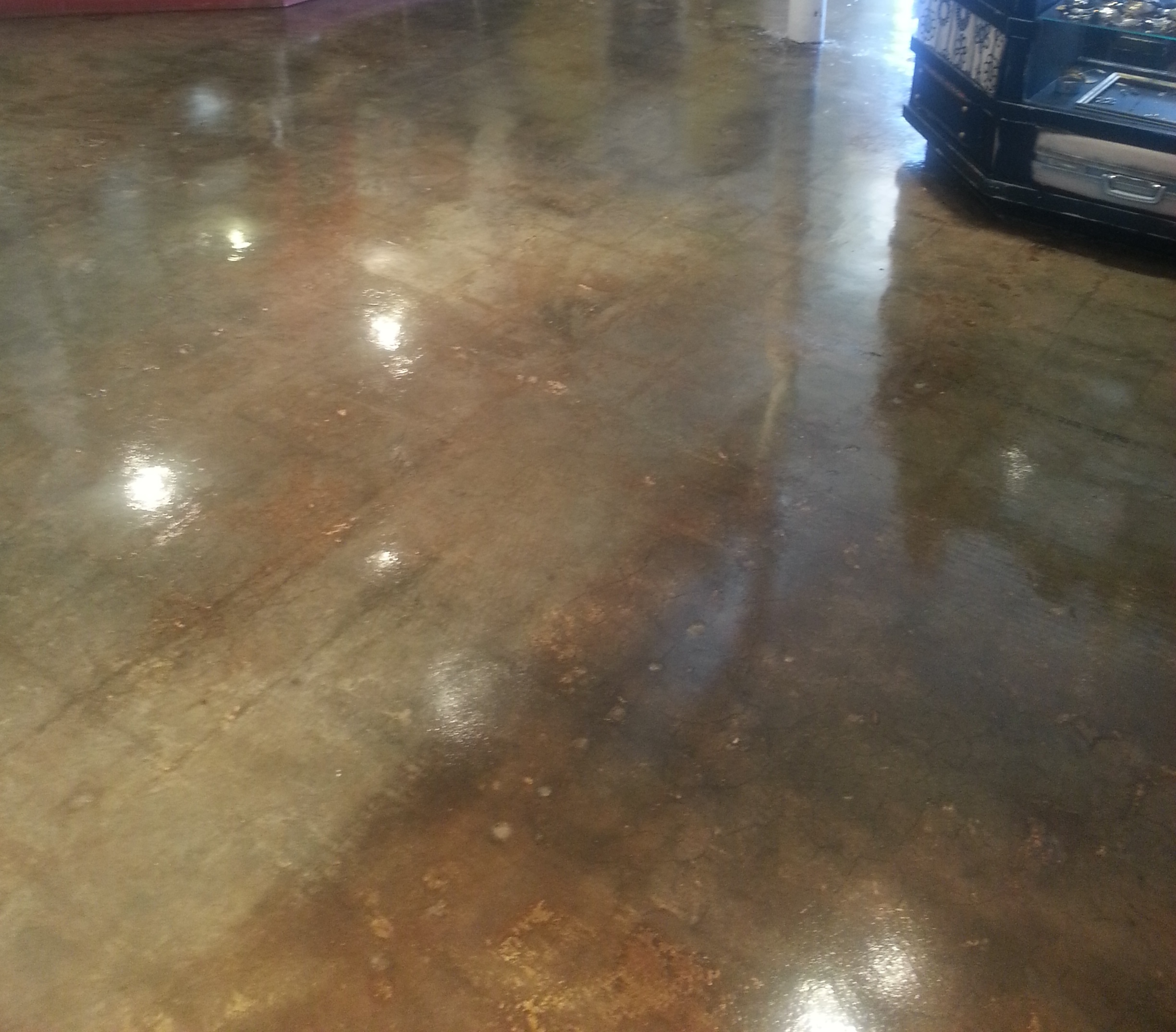 Polished Stained Concrete