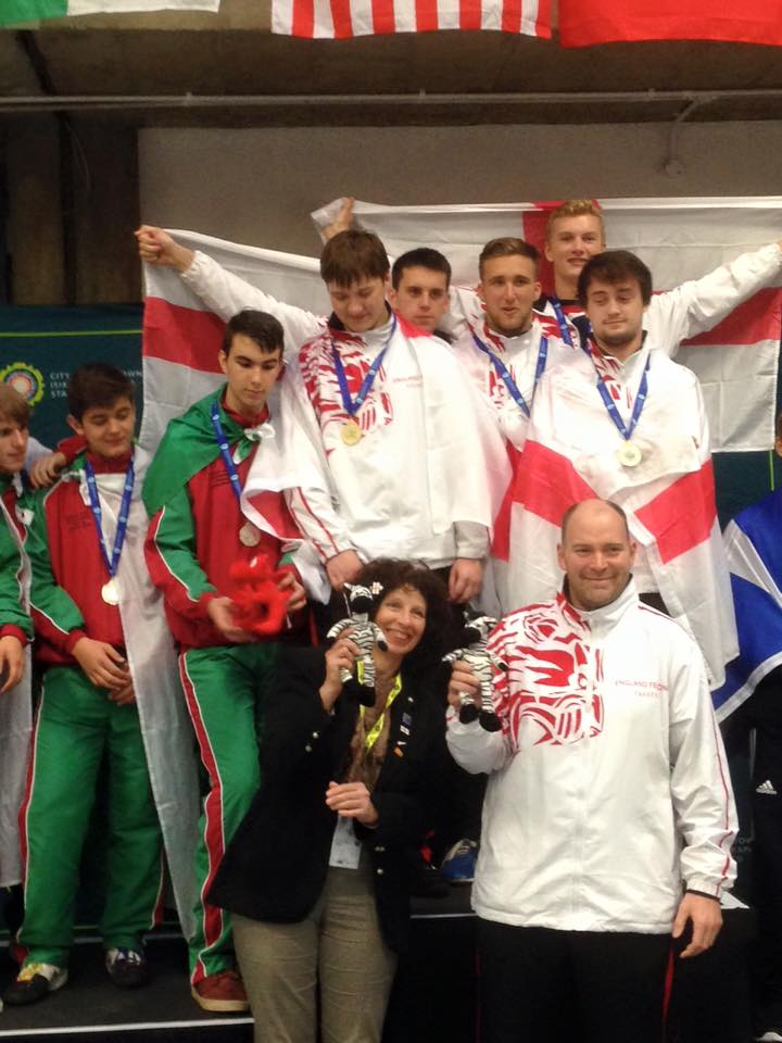 August 2015 - NLSC Fencers Nick Williams and George Burton win Gold with Team England at Junior Commonwealth Championships