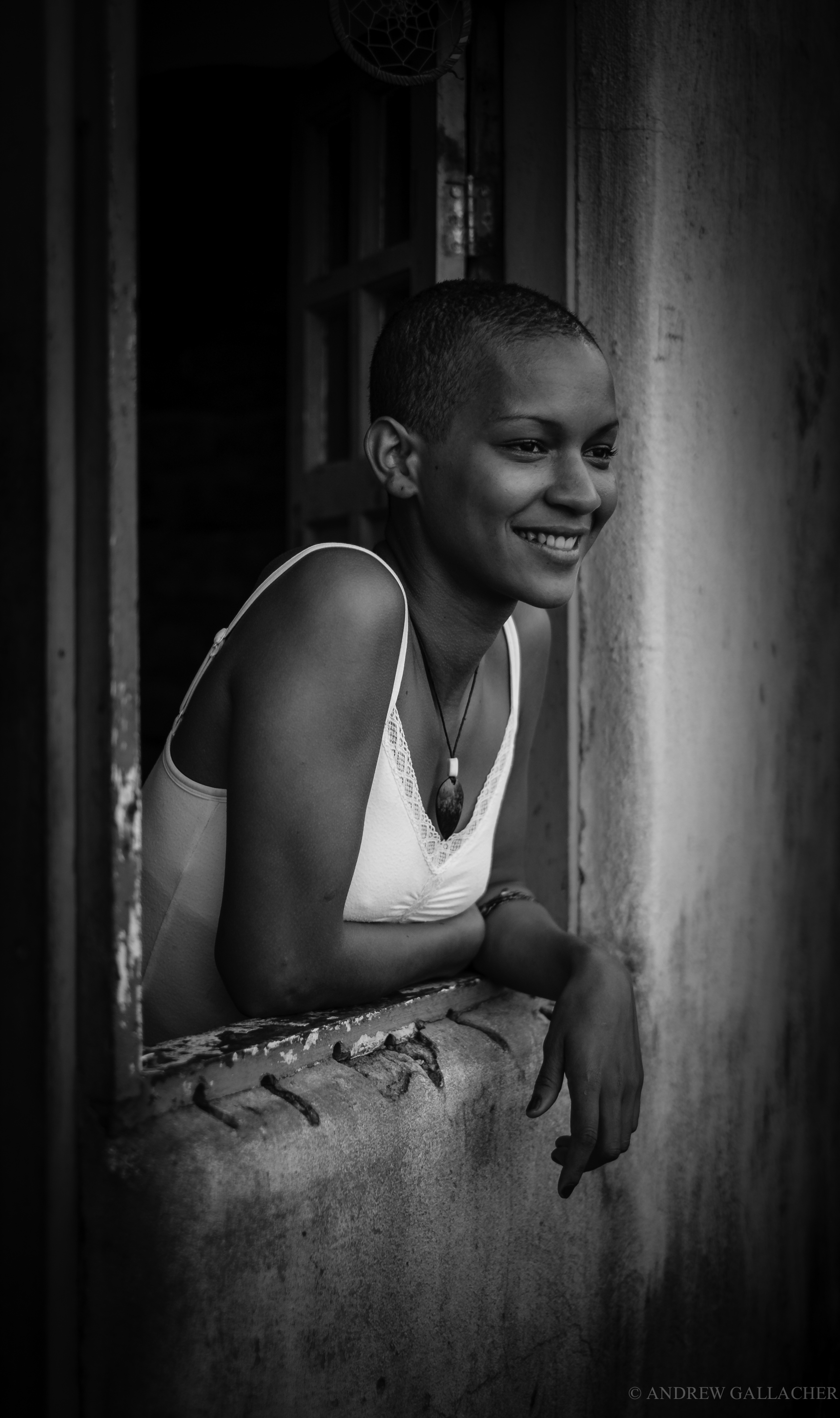 Favella girl, Brazil