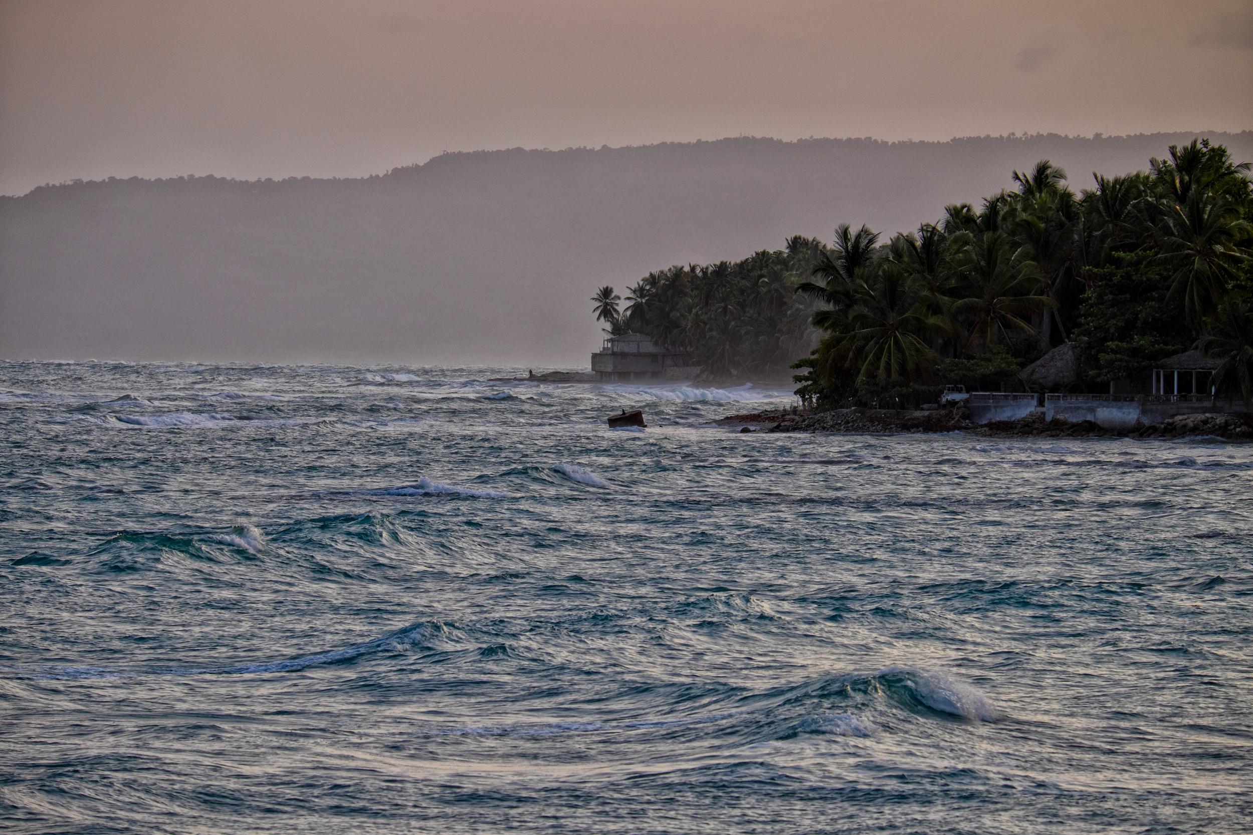 Haiti's southern coast. 200mm at f/7.1 on the X-T1