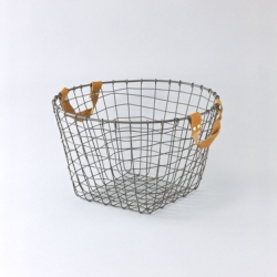 Leather Handle wire basket_butter home.jpg