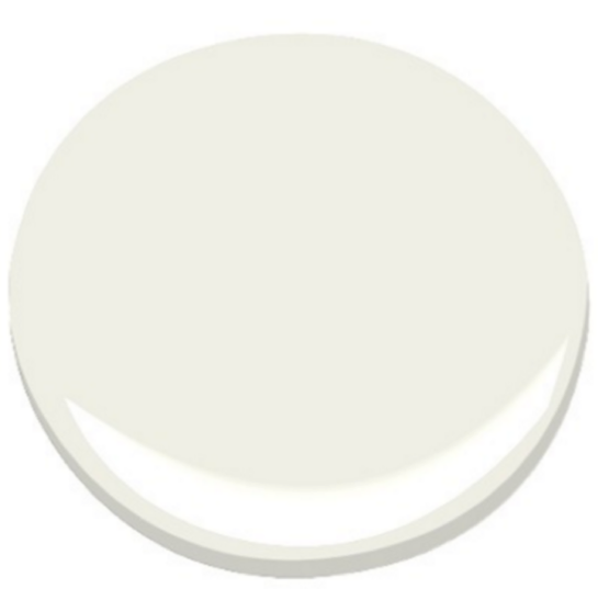 Ben Moore White Dove  White Dove is our go-to white. It's not too white, not creamy, not pinkish or blueish. In other words, just right. We often use White Dove for trim in a satin finish. We have also used it for cabinetry and walls with great success.