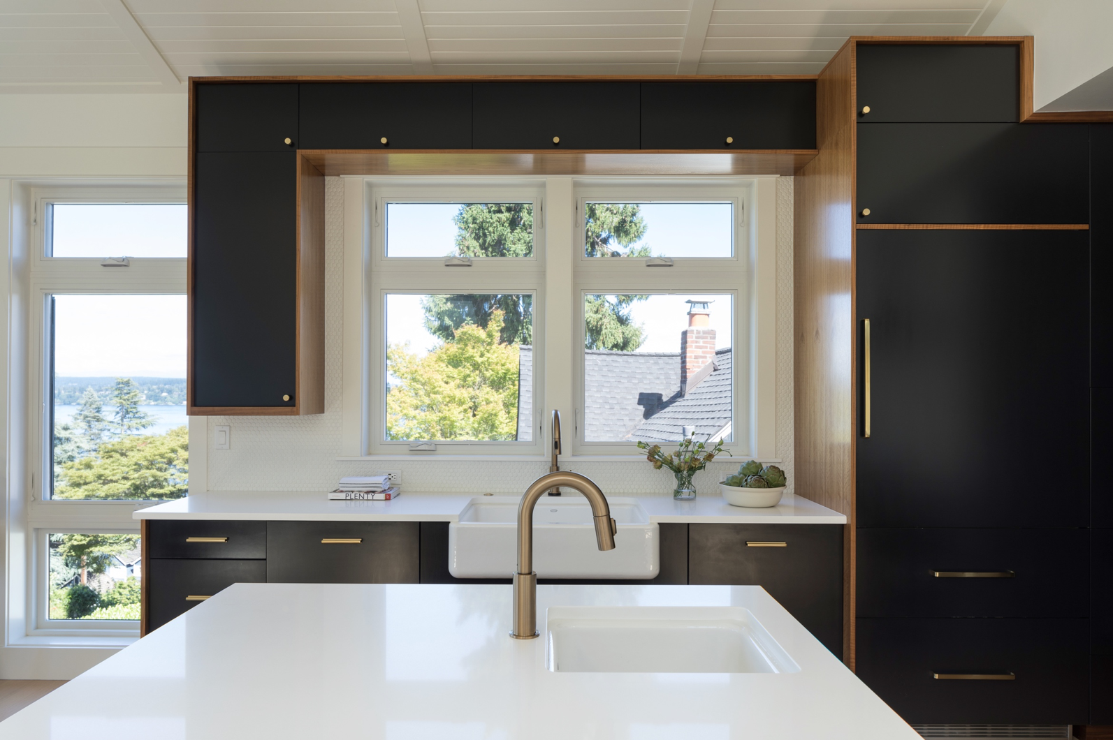 Kitchen Cabinetry in Tricorn Black. Kitchen designed by Hyde Evans Design  Photo by William Wright