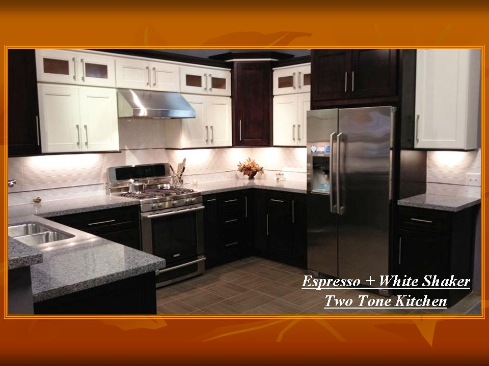 Espresso + White Shaker (Two Tone Kitchen)