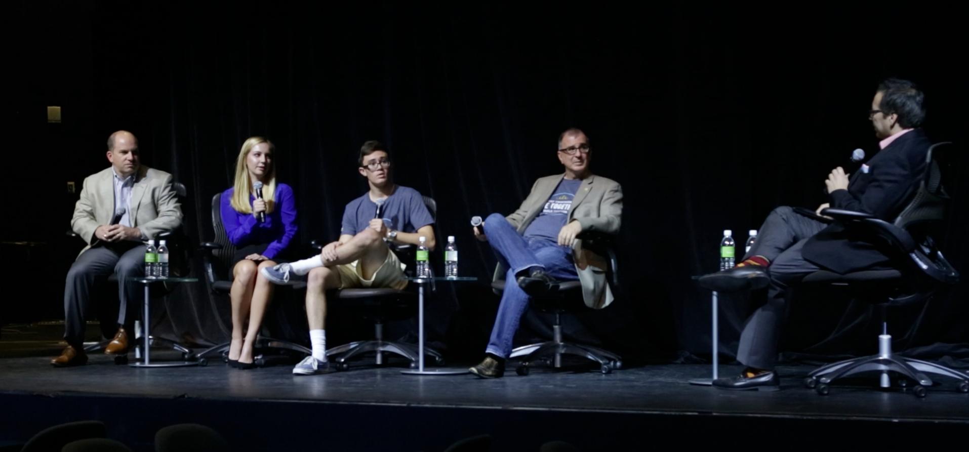 L-R: Allen Fazio (The Walt Disney Company), Ashley Fazio, Zach Basile, Louis Basile (Wildflower)