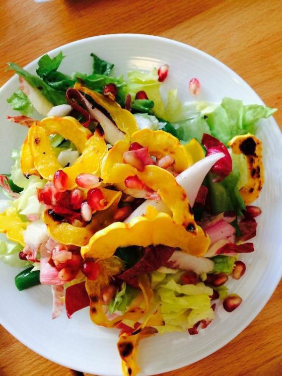 Foodable WebTV Network | Shown: Indian Summer Salad at  Hopscotch  | Photo Credit: 7x7.com