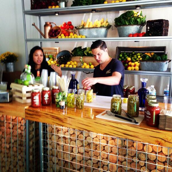 A Bloody Mary bar at Cultivate  | Foodable WebTV Network |  Photo Credit: Twitter