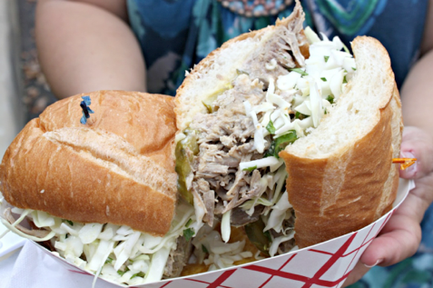Foodable WebTV Network |  Pictured: Pork carnitas sandwich from The Killer Samich Truck