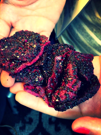 Foodable WebTV Network |  Pictured: Sun-dried dragonfruit slices made by Navitas Naturals