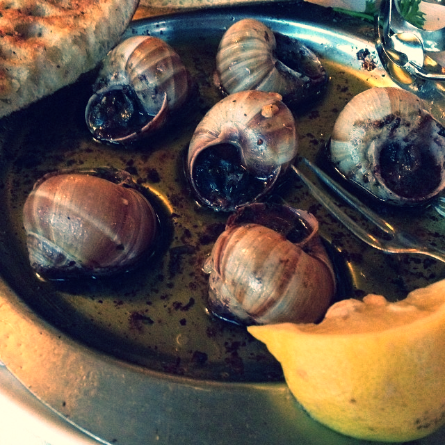 Escargot. Photo Credit: Instagram