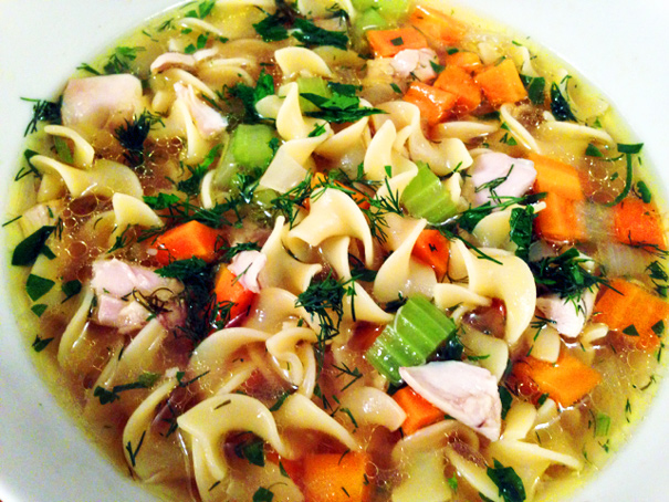 One Hour Chicken Soup    Photo Credit: Amateur Gourmet