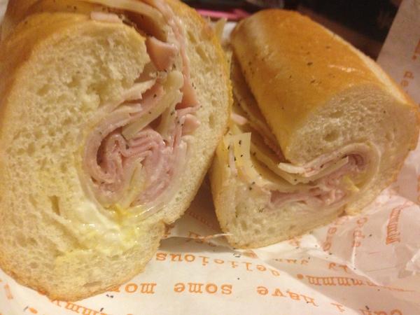 Ham, turkey & swiss cheese Publix Sub  | Photo Credit: Burger Beast