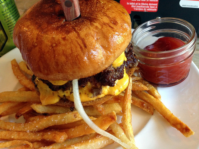 Burger from Meatstick | Photo Credit: Eat It, Atlanta