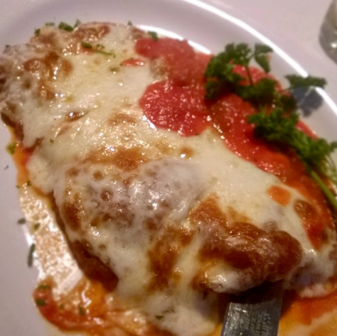 Veal Parmigano, Anthony's Runway 84, Ft. Lauderdale  | Photo Credit: Ozersky.TV
