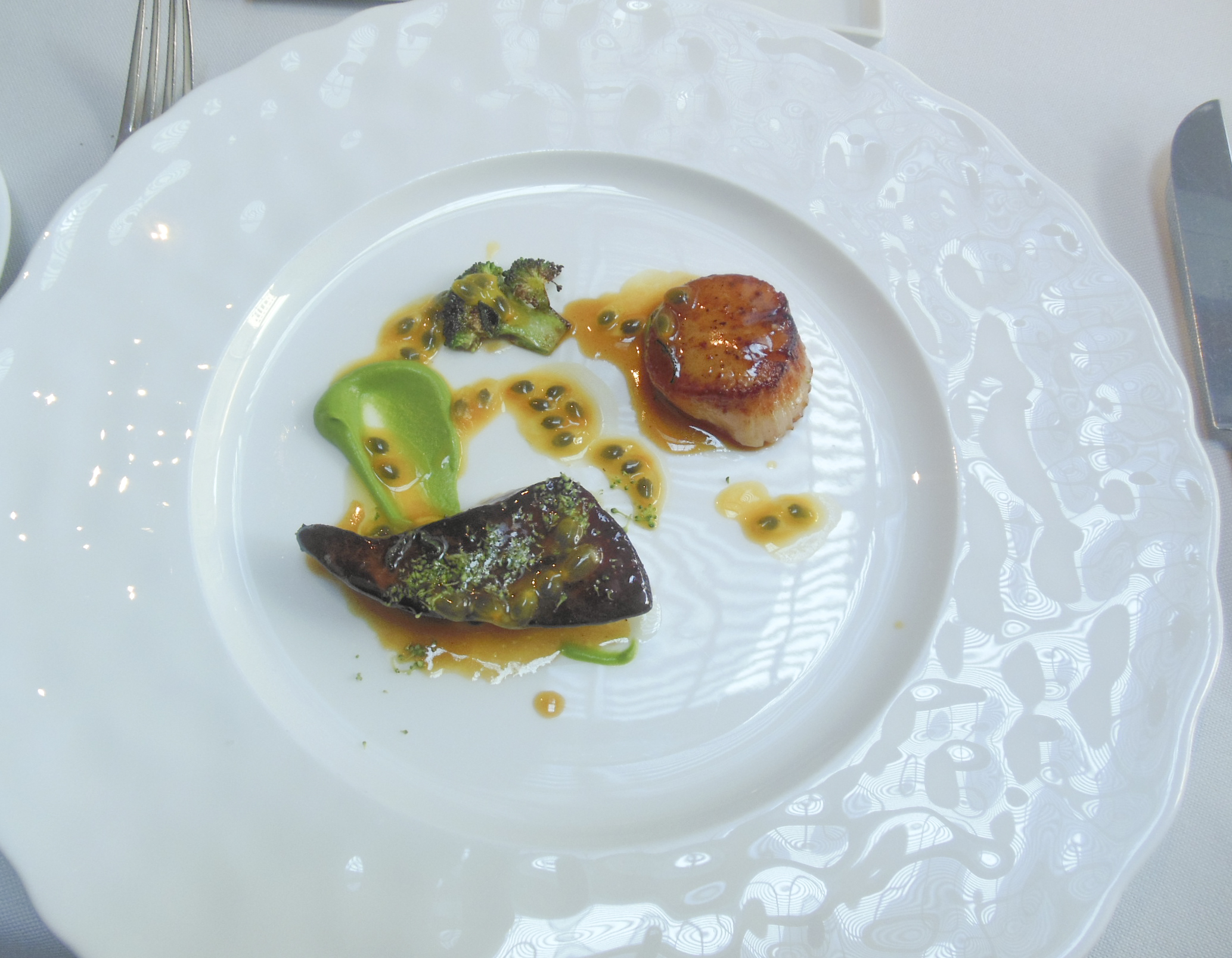 Roasted Foie Gras and Diver Scallop
