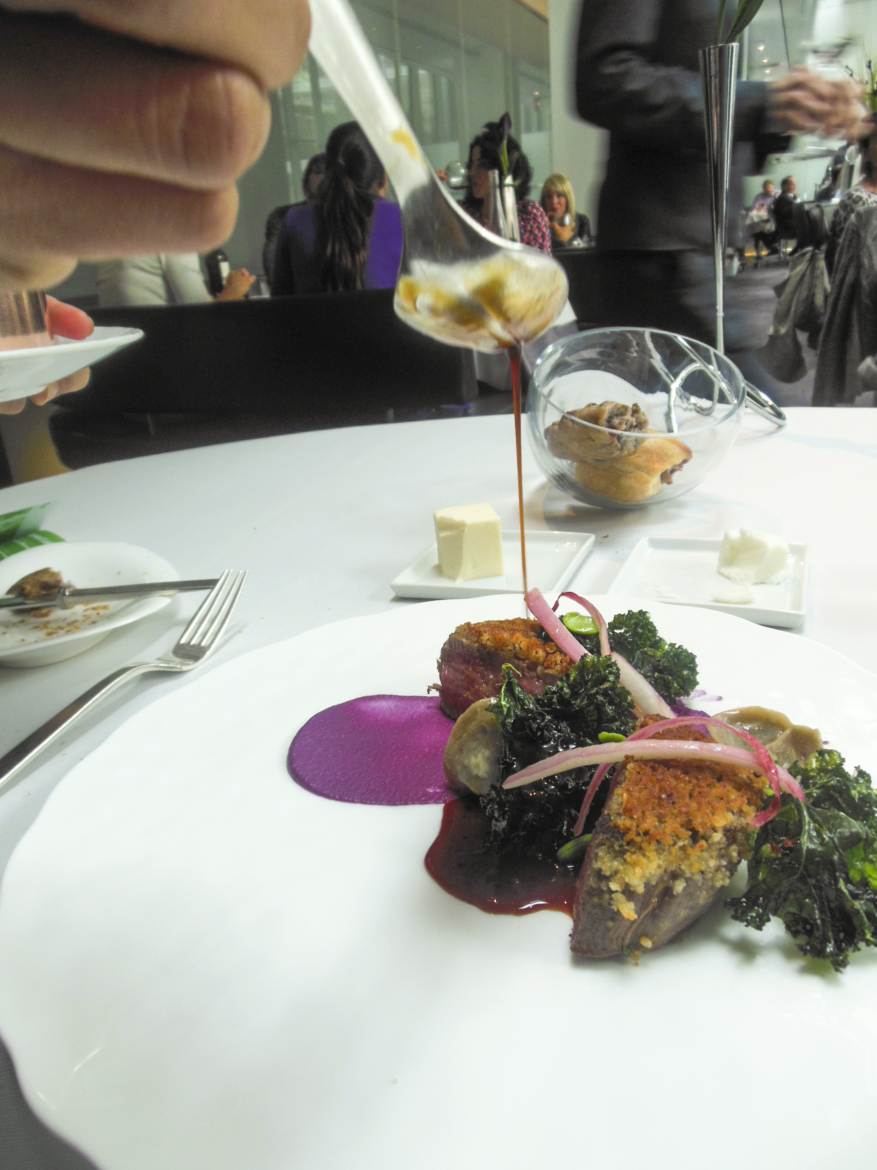 Herb-Roasted Beef with Short Rib Tortellini and Black Truffle