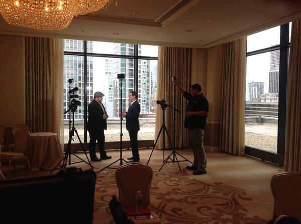 Fast Casual Trends TV host Paul Barron interviews Chef Brian Duffy during the FCTD event at the Ritz-Carlton in Chicago.  | Foodable WebTV Network
