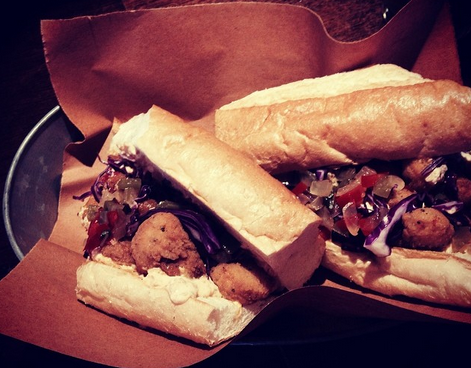 Cajun Shrimp Po Boy, Bridget Foy's | Credit: Instagram