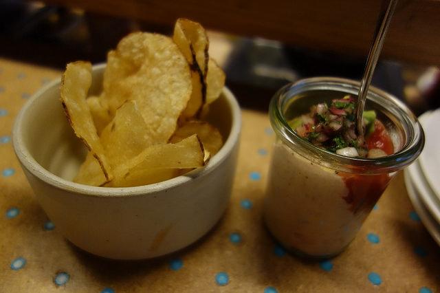 Smoke Trout Avocado Chip & Dip, State Bird Provisions | Foodable WebTV Network