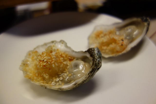 Raw Oyster with Spicy Kohlrabi Kraut & Sesame, State Bird Provisions | Foodable WebTV Network
