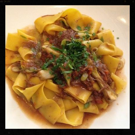 Lamb Pappardelle, Perbacco  | Instagram