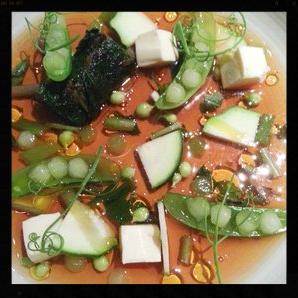 Chilled Dashi Soup at Serpico  | Credit: Yelp, Marissa C.