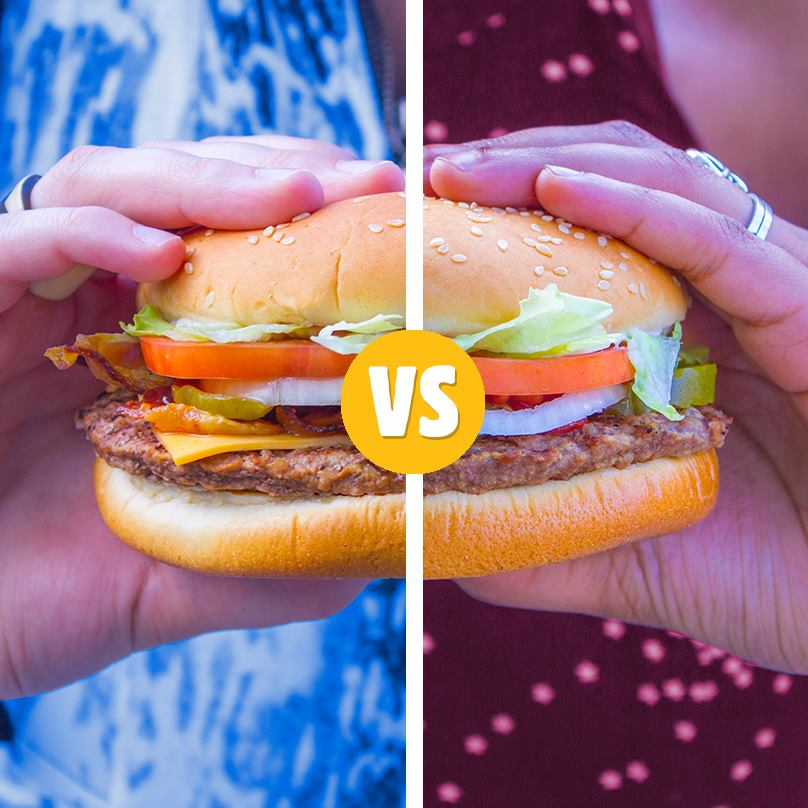 Regular vs. BBQ | Credit: Facebook, Burger King