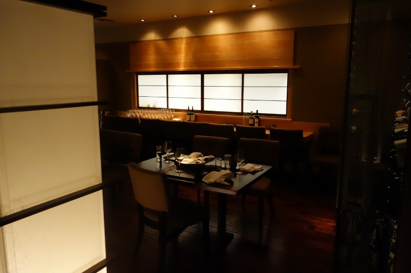 Interior restaurant setting at n/naka | FOODABLE WEBTV NETWORK