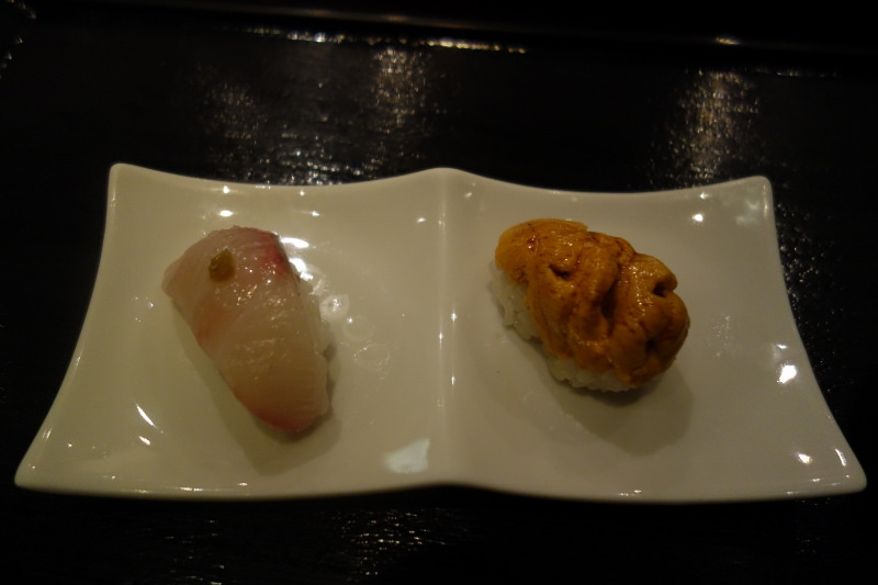 Shima Aji and Uni Sushi at n/naka | FOODABLE WEBTV NETWORK