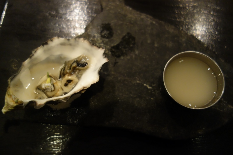 Fanny Bay Oyster and Yuzu Omoi at n/naka | FOODABLE WEBTV NETWORK