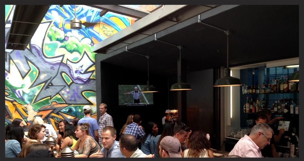 Interior setting of Graffiti Bar  | Foodable WebTV Network