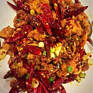 Dry Chili Chicken from the Lao Sze Chuan Chicago location   | YELP, Christa C.
