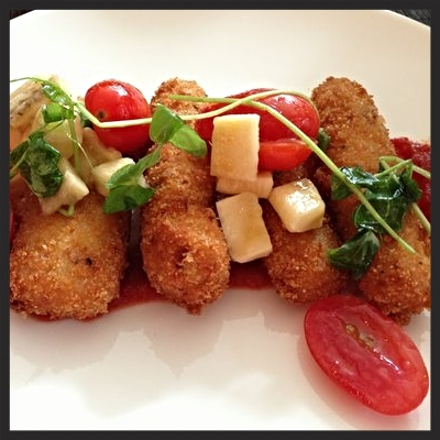 Goat Cheese & Chorizo Croquettes at Area 31  | YELP, Brenda P.