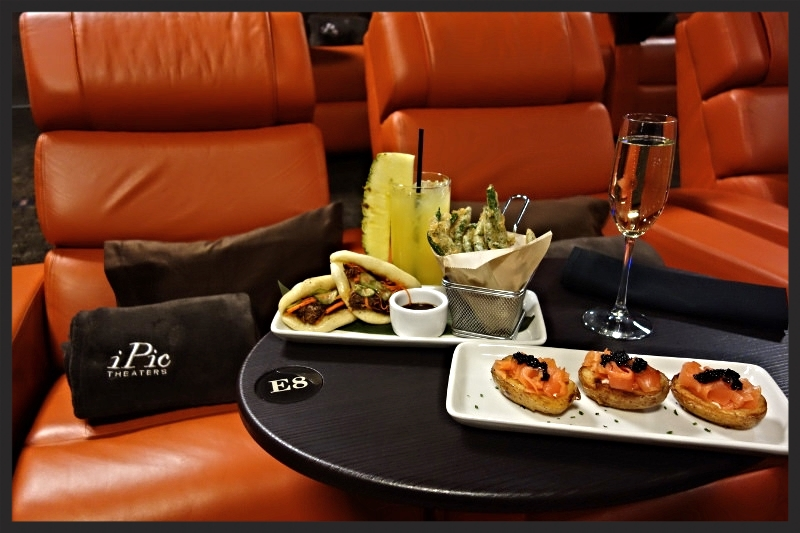 Selection of dishes served at iPic and the premium seating    Foodable WebTV Network