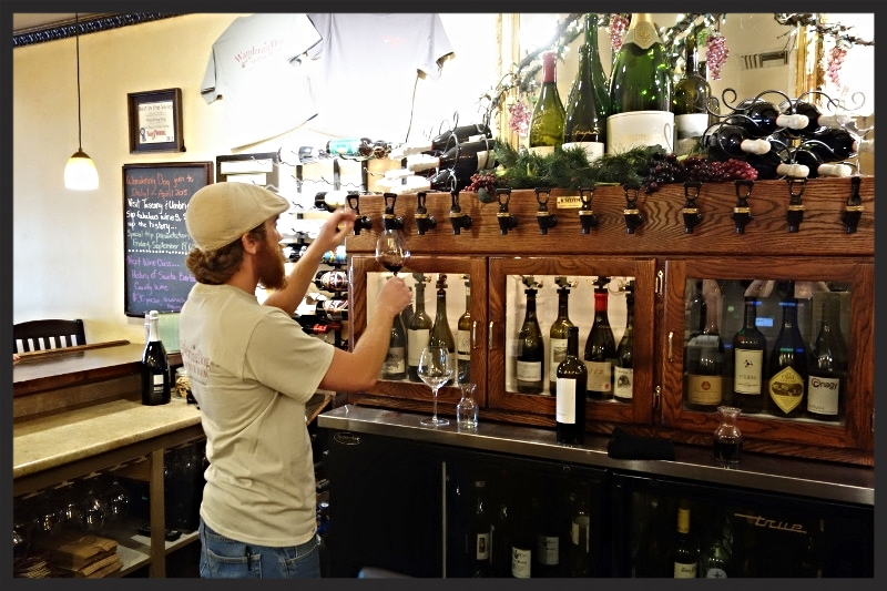 Wine Tasting Menu Selection at Wandering Dog Wine Bar | Foodable Network