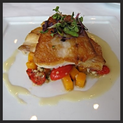 Black drum with veggies from Coquette  | YELP, Jackie S.