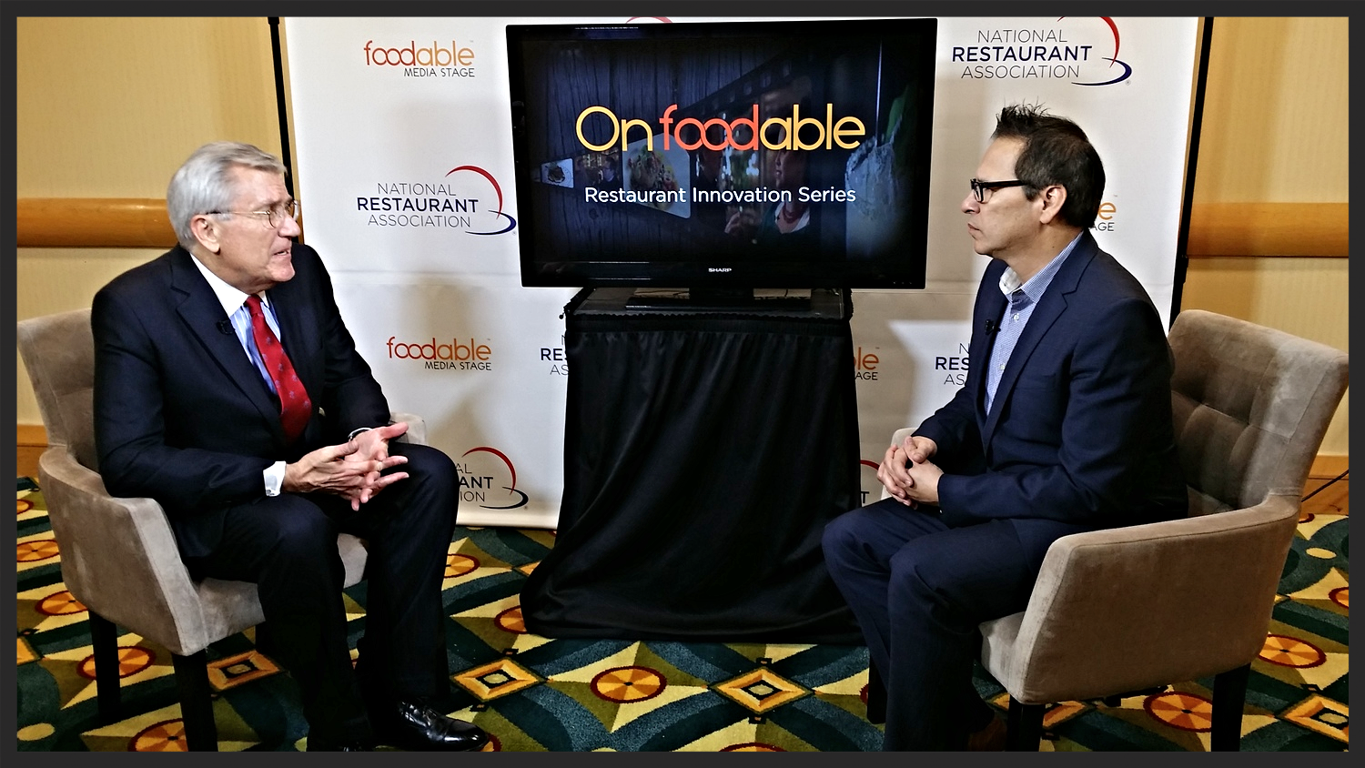 Paul Barron speaks to industry ExpertHudson Riehle at the2014 Restaurant Innovation Summit | Foodable WebTV Network