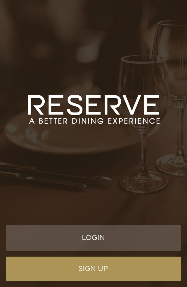 Screen shot of Reserve, reservation app