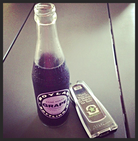 Grape flavored Boylan soda  | Instagram, Burgerfi