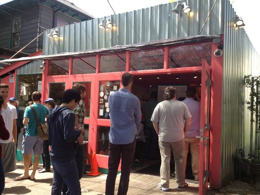 Line out the door at Paseo  | YELP, Ling S.