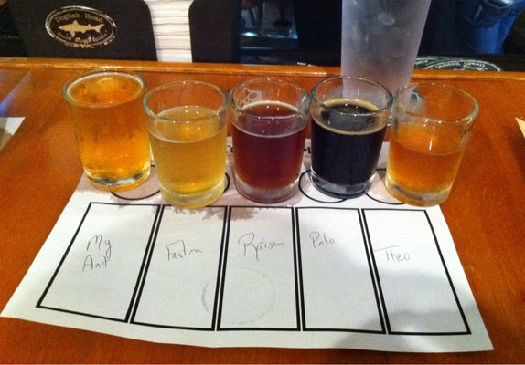 Flight Sampler at Dogfish Head Brewery  | YELP, Jason C.