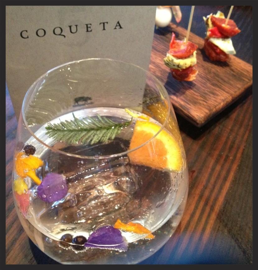 Gin and Tonic at Coqueta    YELP, Angela P.