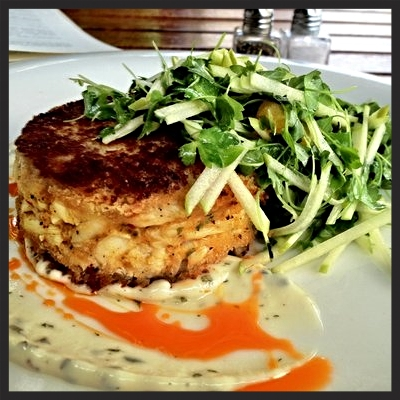Crab cake, citrus salad at Steak 954  | YELP, Tony Y.