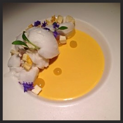 Mango Custard at Hakkasan  | YELP, Thomas M.
