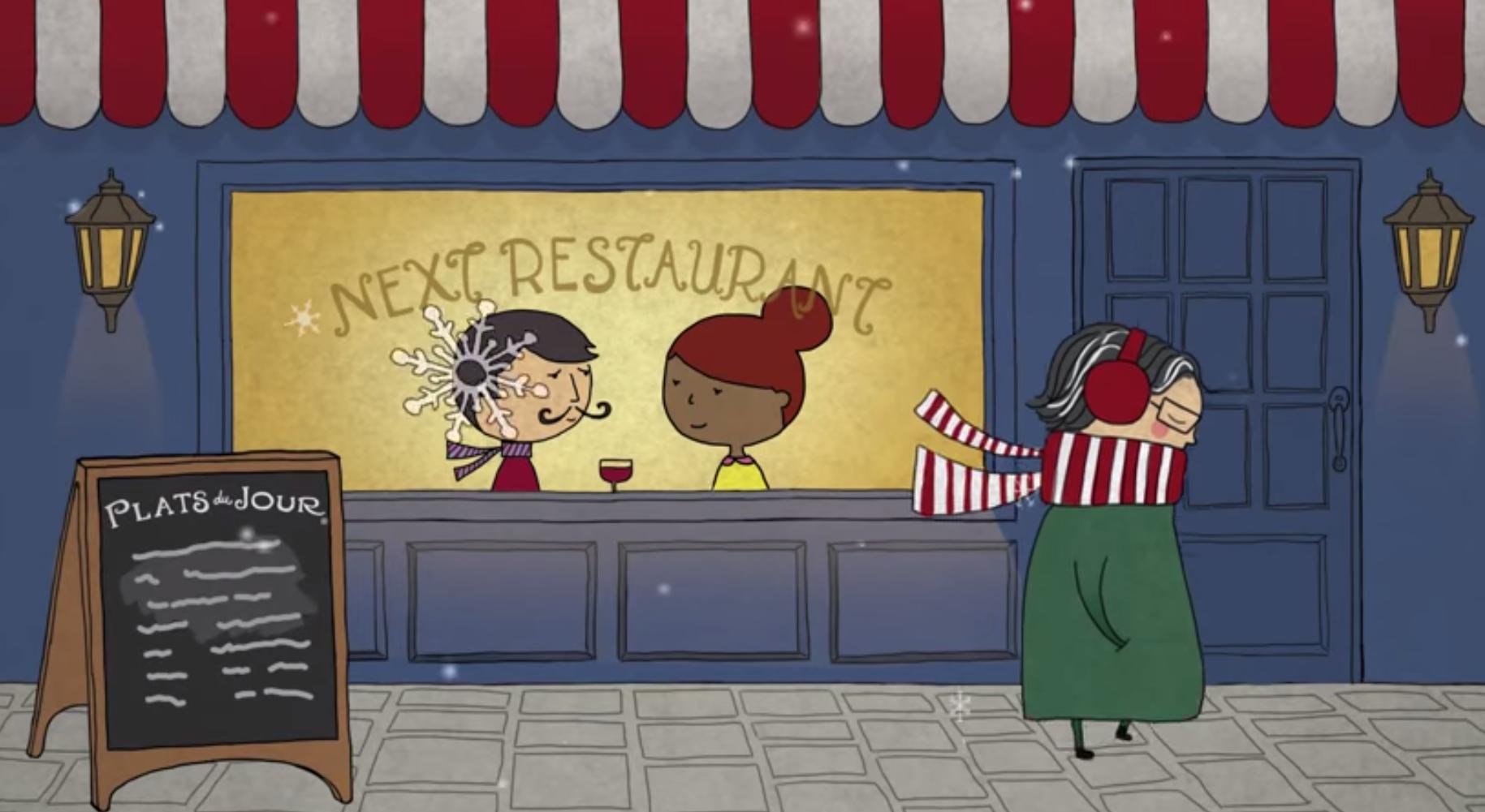 Screenshot from Next's new video promoting their new menu  | @NextRestaurant