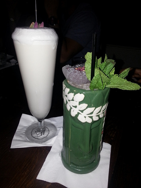 Ramos Gin Fizz & Pineapple Delight at Imperial Craft Cocktail Bar