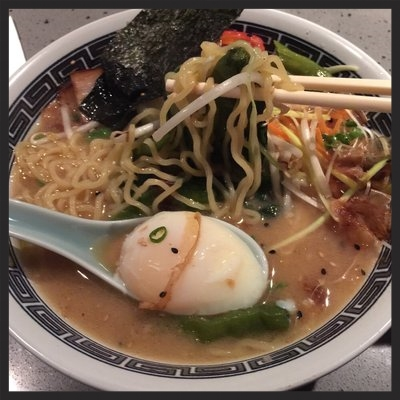 Goma ramen at Posh Improvisational Cuisine | YELP, Takuya K.