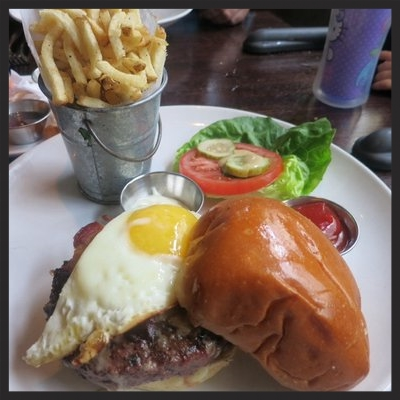 Brunch Burger at Boulevardier  | YELP, Martha G.