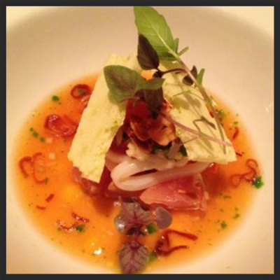 Squid Ceviche at Roe  | Yelp, Kevin W.