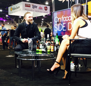Steve Schneider, Bartender of the Year on the Foodable media stage at NC&B Show    Foodable WebTV Network